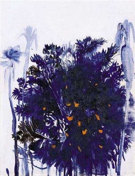 Moreton Bay Fig and Palm Trees - Brett Whiteley