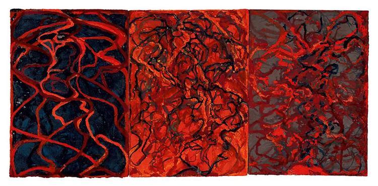 Nevisian Triptych, 2008 - Brice Marden
