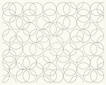 Composition with Circles 5, 2005 - Bridget Riley