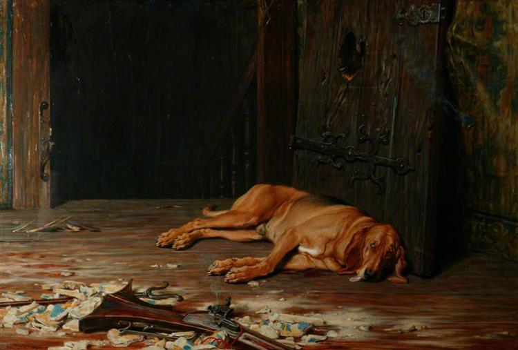 The Last of the Garrison, 1875 - Briton Riviere