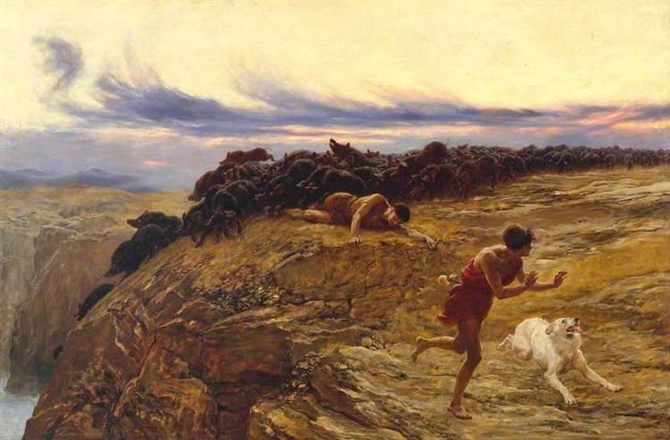 The Miracle of the Gaderene Swine, 1883 - Briton Riviere