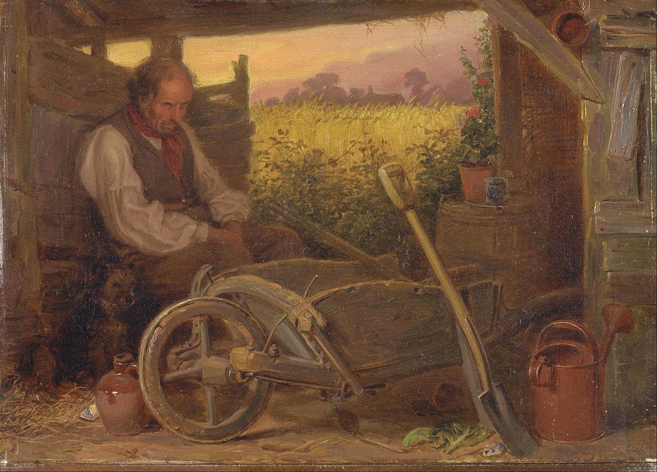 the old gardener 1863 briton riviere