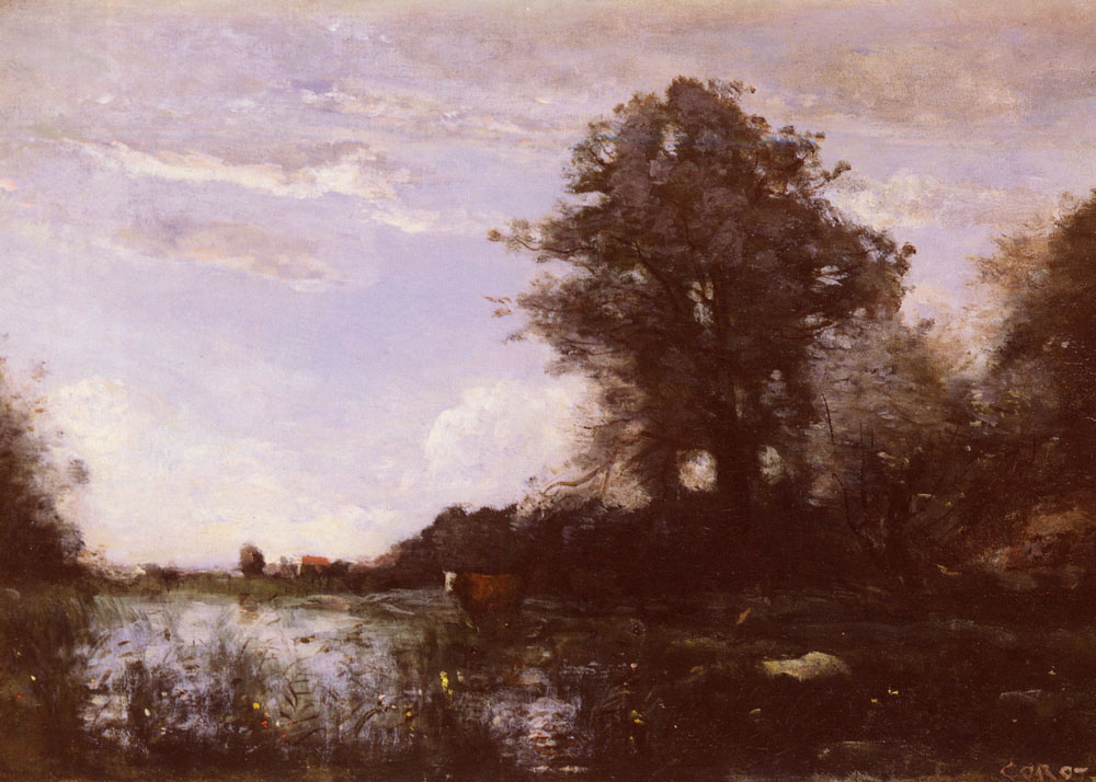 Cuicy marsh near douai camille corot for Camille corot