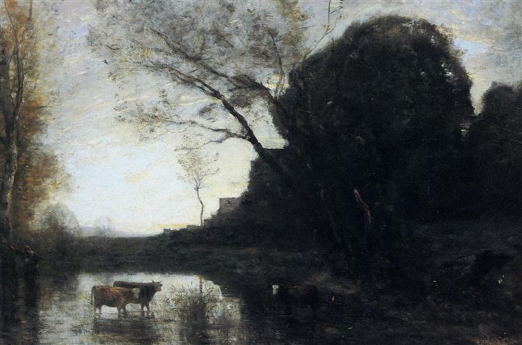 The Ford under the Bended Tree - Camille Corot