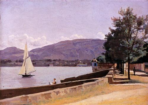 The Quai des Paquis, Geneva - Camille Corot