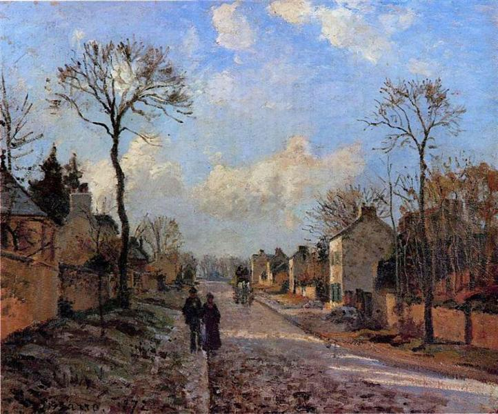 La Route de Louveciennes, 1872 - Camille Pissarro