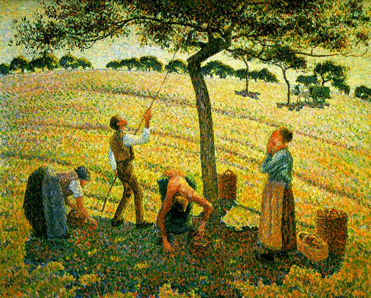 apple picking at eragnysurepte 1888 camille pissarro