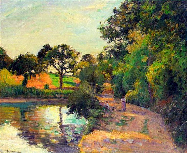 Bridge at Montfoucault, 1874 - Camille Pissarro
