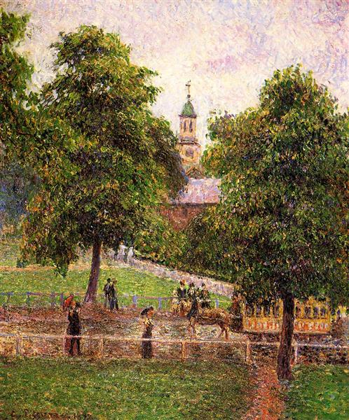 Church at Kew - Camille Pissarro