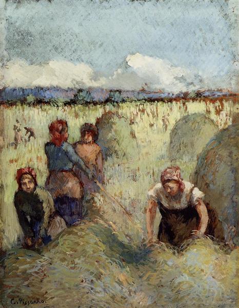 Haymaking, c.1895 - Camille Pissarro