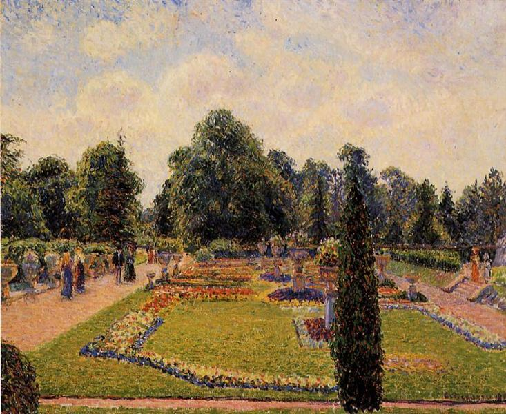Kew Gardens - Path to the Great Glasshouse - Pissarro Camille