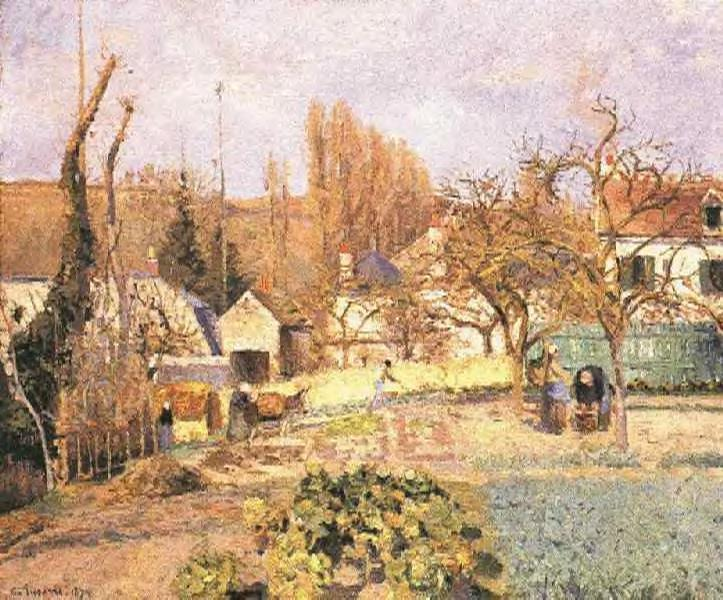Kitchen Garden at the Hermitage, Pontoise, 1874 - Camille Pissarro