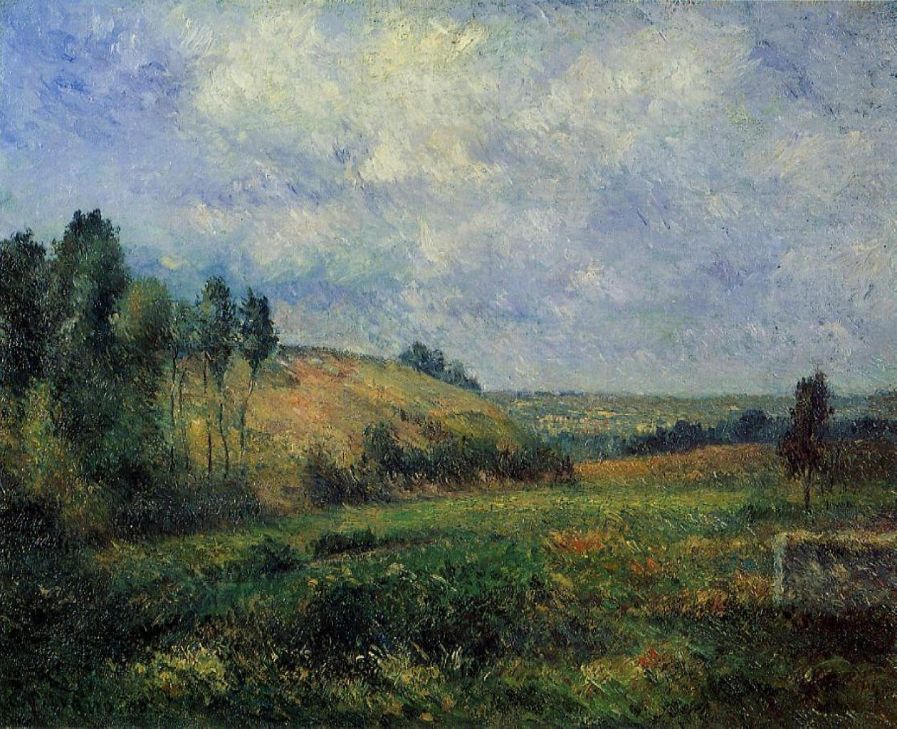Landscape near pontoise camille pissarro for Nearby landscapers