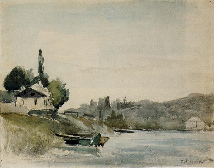 The Banks of the Marne at Cennevieres, 1864-1865