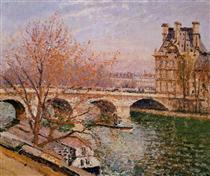 The Pont Royal and the Pavillion de Flore - Camille Pissarro