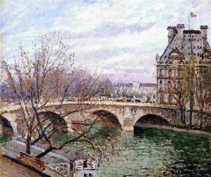 The Pont Royal and the Pavillon de Flore, 1903 - Camille Pissarro