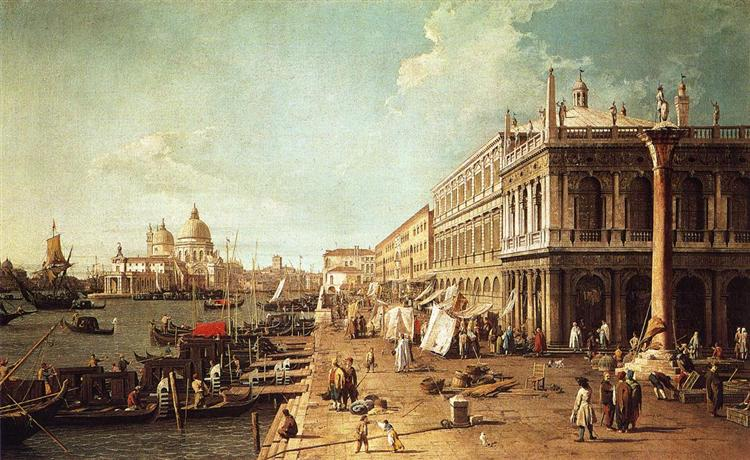 Molo with the Library (Molo Looking Towards the Zecca), c.1742 - Canaletto