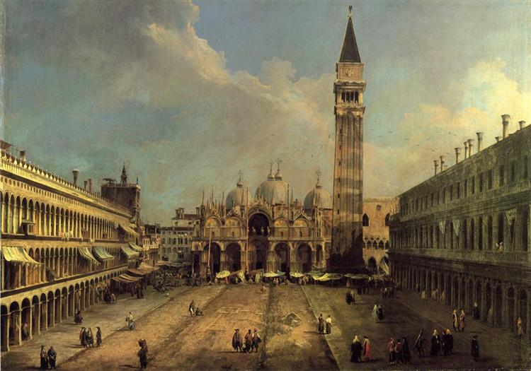 Piazza San Marco Looking East along the Central Line, c.1723 - Canaletto