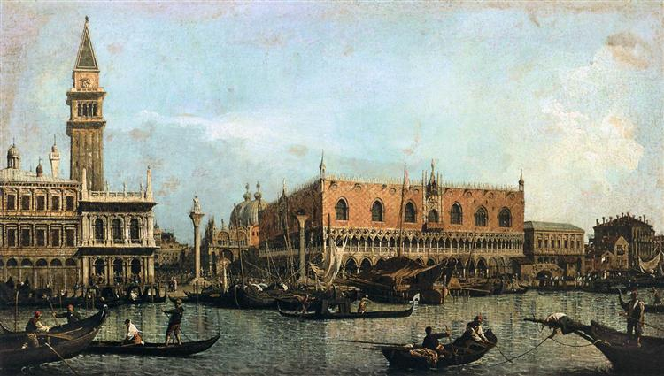 The Molo and the Piazzetta San Marco, Venice, 1730 - Canaletto