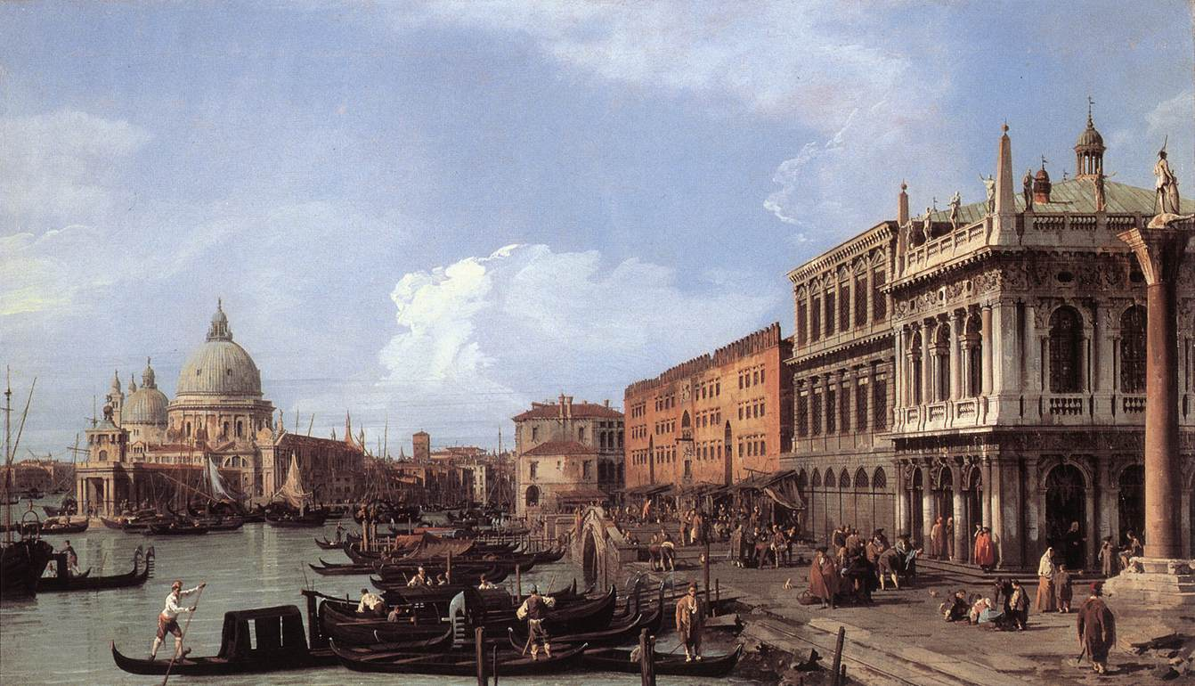 canaletto tatton park the grand canal piazzetta and dogana venice c 1730 elsewhere. Black Bedroom Furniture Sets. Home Design Ideas