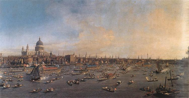 The River Thames with St. Paul's Cathedral on Lord Mayor's Day, c.1746 - Canaletto