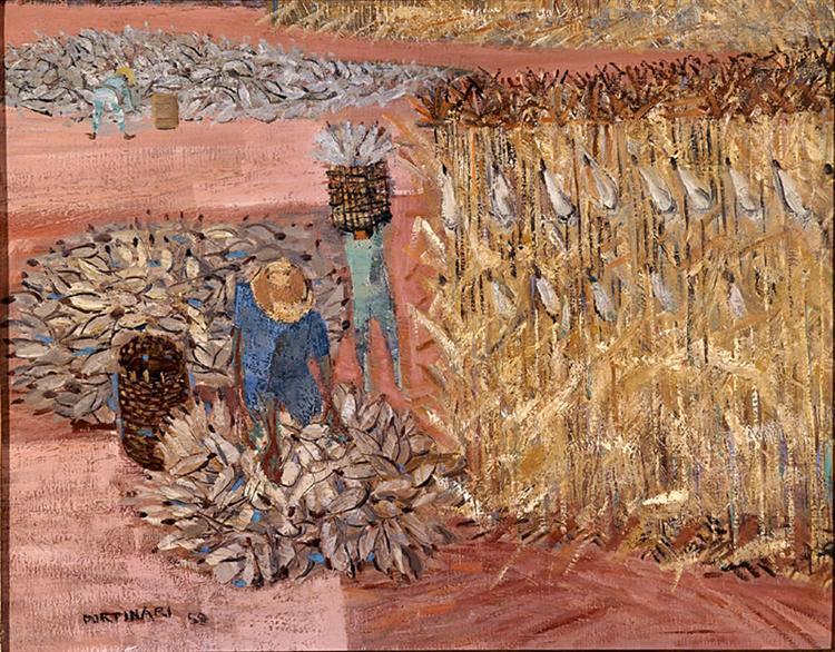 Corn harvest, 1959 - Кандіду Портінарі