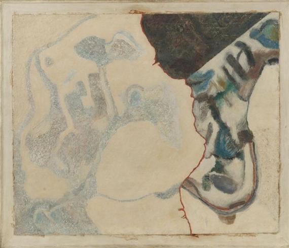 Komposition mit roter Trennlinie, 1953