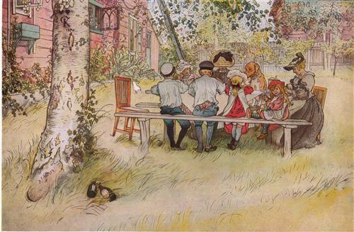 Breakfast under the Big Birch - Carl Larsson