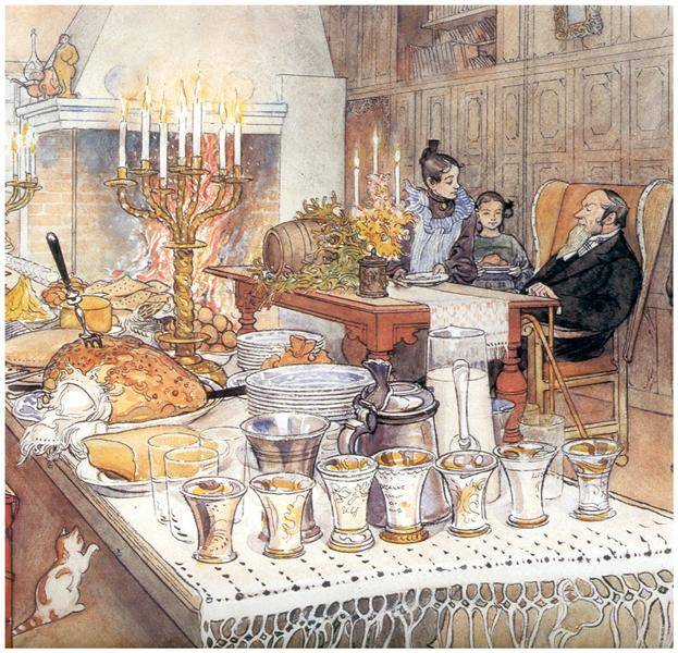 Detail Of Christmas Eve, 1906 - Carl Larsson