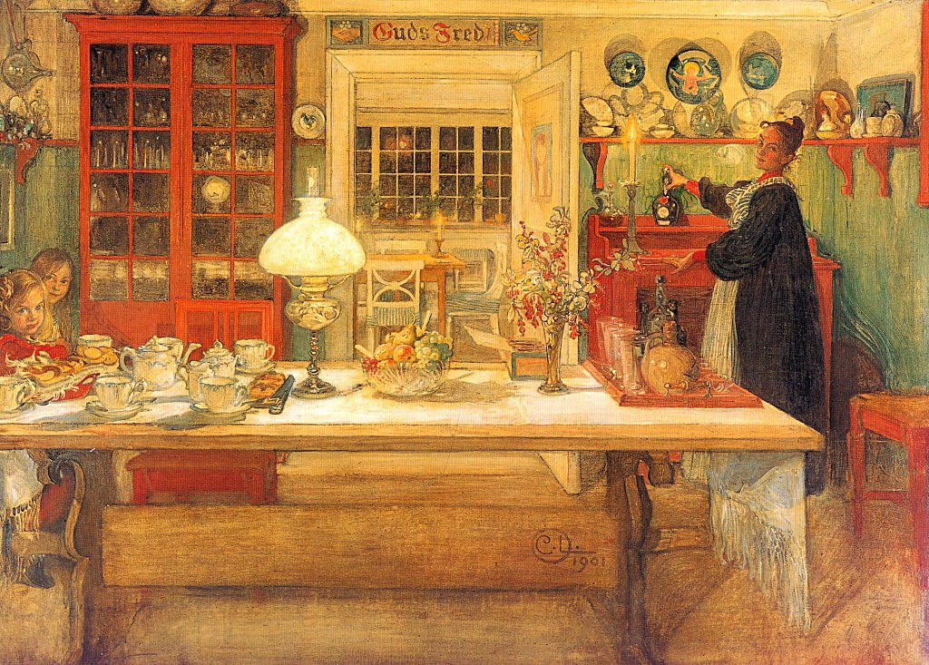 Getting Ready For A Game 1901 Carl Larsson Wikiart Org