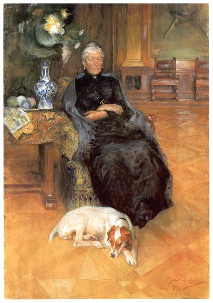 Portrait of Gothilda Furstenberg, 1891 - Карл Ларссон