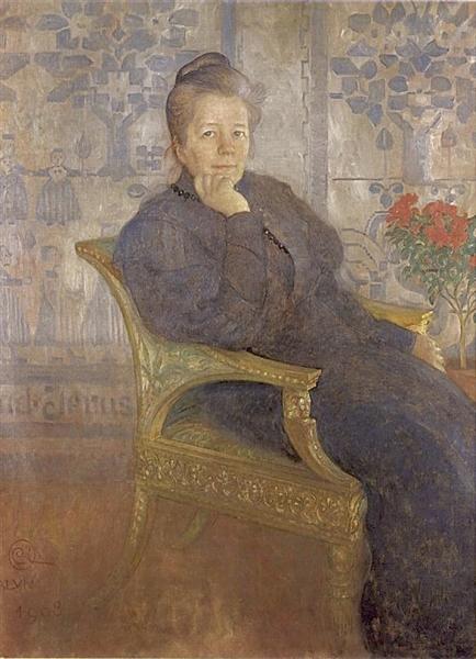 Selma Lagerlöf, 1908 - Carl Larsson