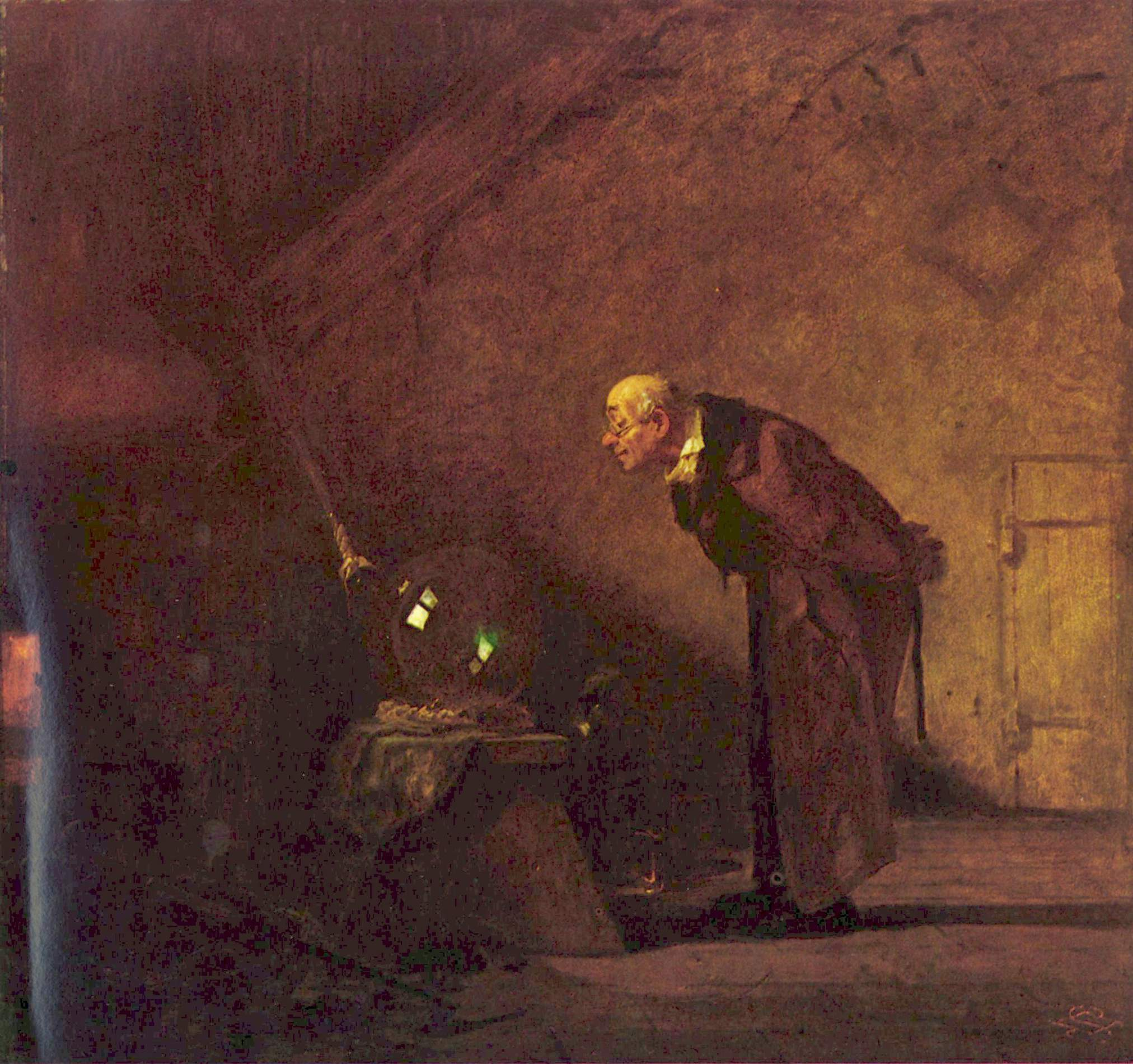 the alchemist c carl spitzweg org the alchemist c 1860 carl spitzweg