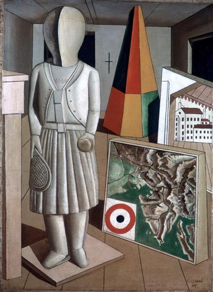 La Musa Metafisica, 1917 - Carlo Carra