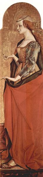 Saint Mary Magdalene, c.1470 - Carlo Crivelli