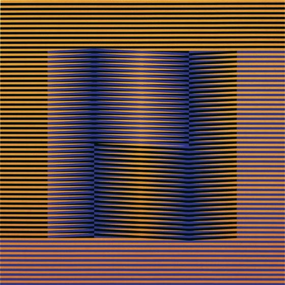 Induction Chromatique. Édition Denise René 1, 1975 - Carlos Cruz-Diez