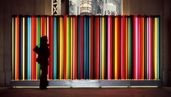 "Transchromie (from the exhibition ""60/72: Douze Ans d'Art Contemporain en France""), 1972 - Carlos Cruz-Diez"