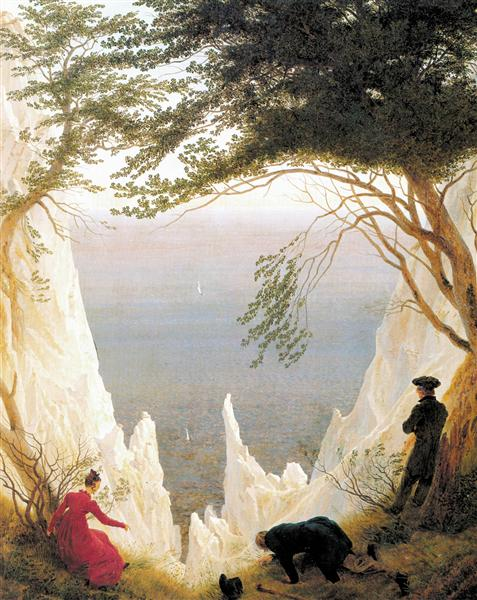 Chalk Cliffs on Rügen, c.1818 - c.1819 - Caspar David Friedrich