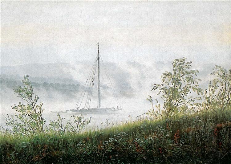 Elbschiff in early morning fog, 1820 - Caspar David Friedrich