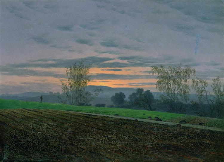 Plowed field, c.1830 - Caspar David Friedrich