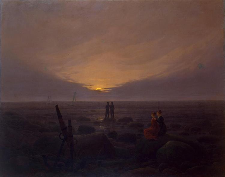 Twilight at seaside, 1819 - Caspar David Friedrich