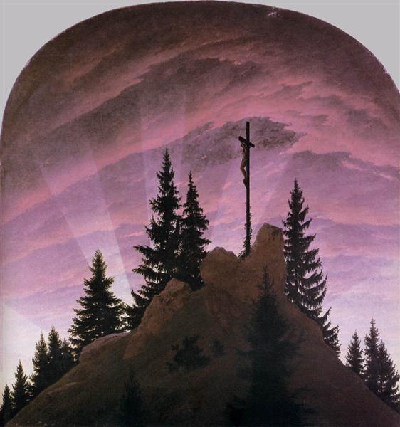 Cross in the Mountains (Tetschen Altar), 1808 - Caspar David Friedrich