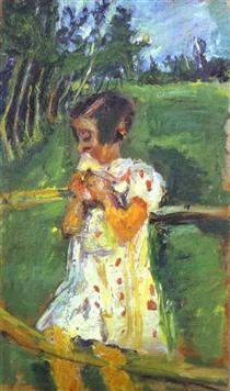 Girl at Fence - Chaim Soutine