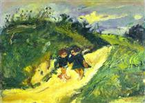 Two Children on a Road - Chaim Soutine