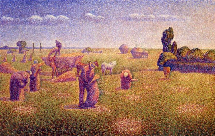 The Harvesters, 1892 - Charles Angrand