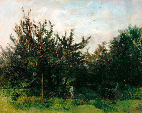 An Apple Orchard, c.1871 - c.1878 - Charles-Francois Daubigny