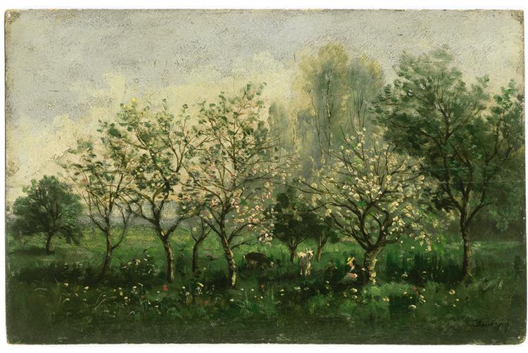 Apple Trees in Blossom, 1860 - 1862 - Charles-Francois Daubigny