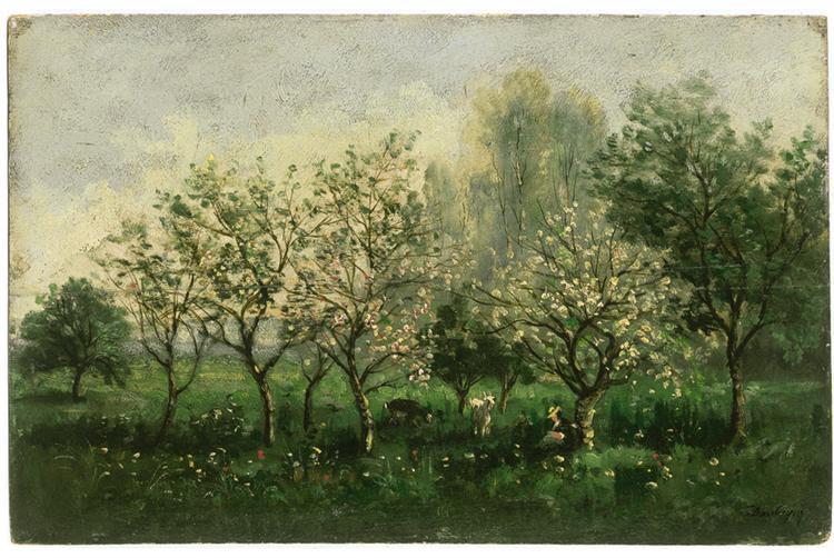 Apple Trees in Blossom, 1860 - 1862 - Charles-Francois Daubigny