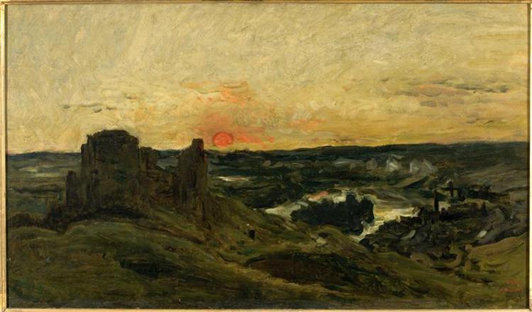 Castle Gaillard in Andelys (Eure), 1877 - Charles-Francois Daubigny