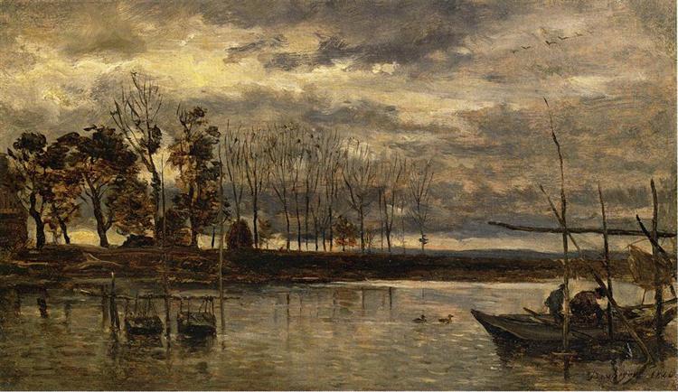 Eel Fishermen, 1864 - Charles-Francois Daubigny